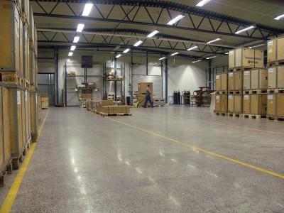Полимерный пол для склада